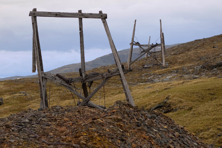 Remains from the cableway